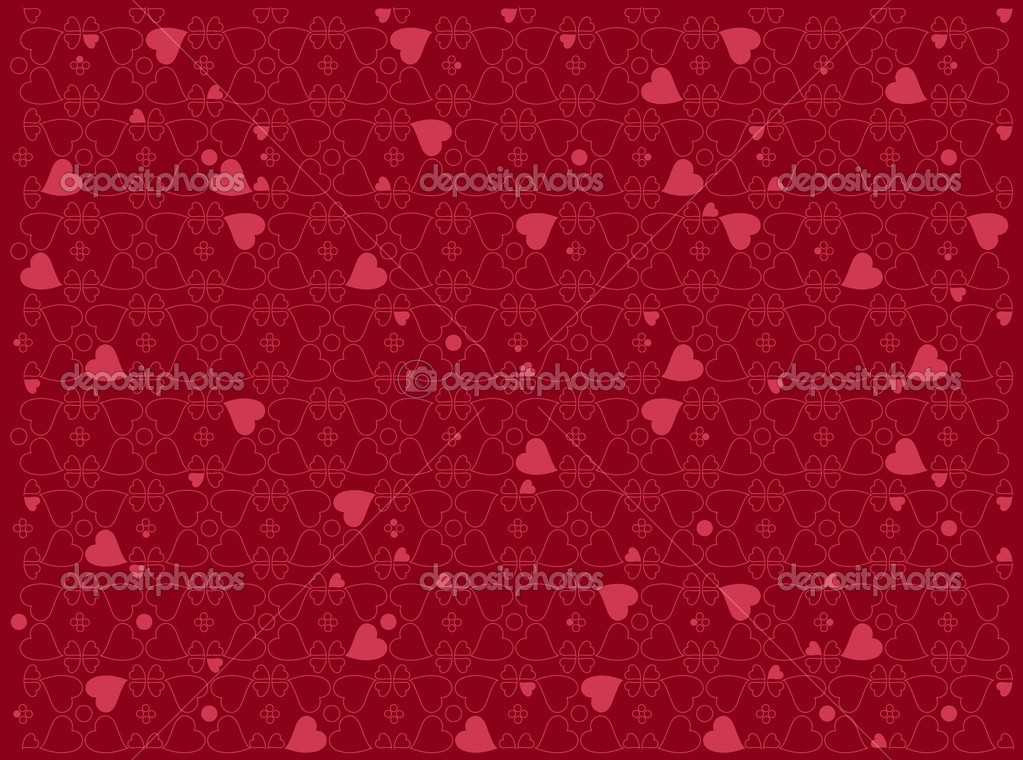 Vector illustration of heart motifs for valentine day cards or anything else — Stock Vector #11573083