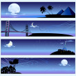 Romantic travel banners - Stock Vector