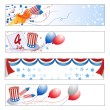 Stock Vector: Independence Day banners