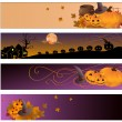 Halloween banners - Imagen vectorial