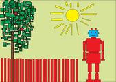 红色的机器人 — 图库矢量图片