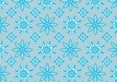 Padrão de floco de neve azul — Vetor de Stock