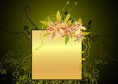 Ramka kwiatu — Wektor stockowy