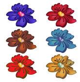 Funky flowers — Stock Vector