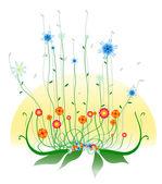 Retro flowers — Stock Vector