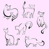 Cats Set — Stock Vector