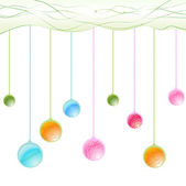Hanging balls — Stock Vector