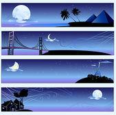 Romantic travel banners — Stock Vector