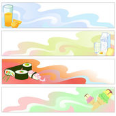 Food Banners — Stock Vector