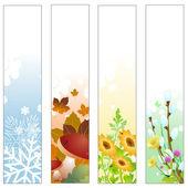 Seasons banners — Stock Vector