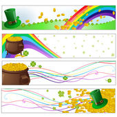 Saint patrick day party banners — Stock Vector