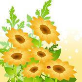 Tournesols jaunes — Vecteur