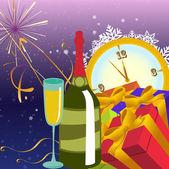 Nya året bakgrund — Stockvektor