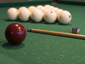 Russian billiard attributes — Stock Photo