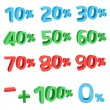 3D discount sums — Stock Vector