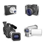 Camera set — Stockvektor