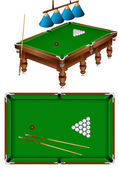 Russian billiard — Stock Vector