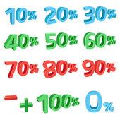 3D discount sums — Stock Vector