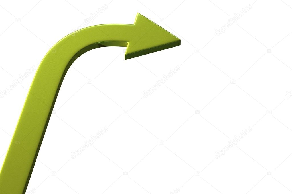 Arrow on white background isolated. Pointing up — Stock Photo #11462009
