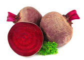 Red beets with parsley leafs — Stock Photo