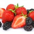 Strawberry and mulberry — Stock Photo