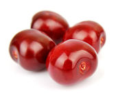Sweet cherries on white — Stock Photo