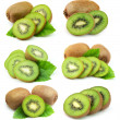 Collage of sweet kiwi fruit — Stock Photo #11064253
