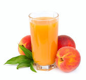 Peach juice — Stock Photo