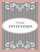 Invitation vintage card. Wedding or Valentine`s Day. Vector illu — Stock Vector