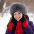 Stock Photo: Portrait of woman in winter