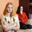 Girls having quarrel at home — Stock Photo #11498356