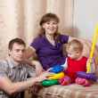 Family relaxing at home — Stock Photo