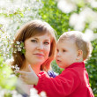 Mother with toddler in spring — Stock Photo