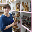 Stock Photo: Womin egyptisouvenirs shop