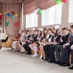 Ceremony of Last Bell in school — Stock Photo