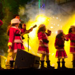 Children sing Christmas songs on a Public Appearance — Stock Photo