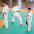 National championship among juniors by kyokushin karate — Stock Photo #11499192