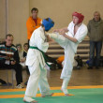 National championship among juniors by kyokushin karate — Stock Photo #11499218