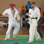 National championship among juniors by kyokushin karate — Stock Photo #11499223