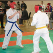 National championship among juniors by kyokushin karate — Stock Photo #11499226
