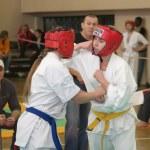 National championship among juniors by kyokushin karate — Stock Photo #11499233