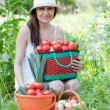Woman with vegetables harvest — Stock Photo #11499484