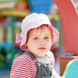 Portrait of two-year child at playground — Stock Photo