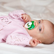 Baby girl of 5 months old — Stock Photo