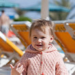 Happy toddler at resort — Stock Photo