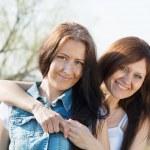 Two happy women — Stock Photo