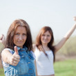 Royalty-Free Stock Photo: Two happy women