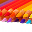 Royalty-Free Stock Photo: Pencils  over white
