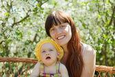 Šťastná matka s dítětem — Stock fotografie