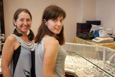Women at jewelry shop — Stock Photo